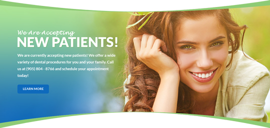 Huron Dental Center Welcome Banner